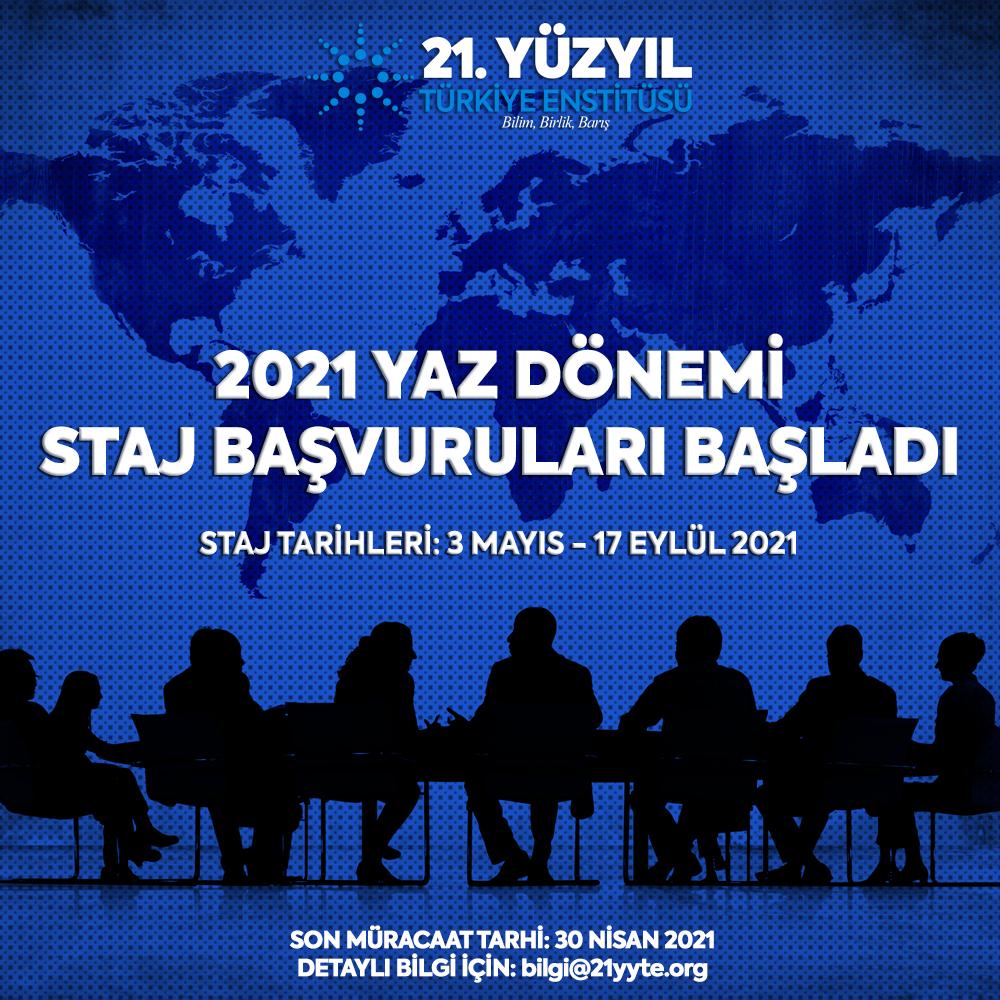 2021 Yaz Dönemi Staj Başvuruları Başladı