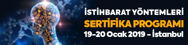 İstihbarat Yöntemleri Sertifika Programı (19-20 Ocak 2019, İstanbul)