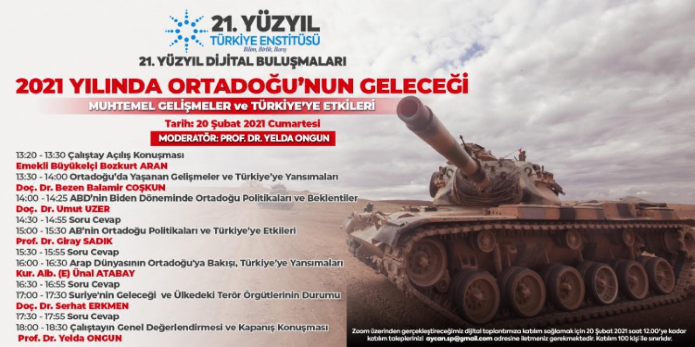 2021 Yılında Ortadoğu'nun Geleceği: Muhtemel Gelişmeler ve Türkiye'ye Etkileri Çalıştayı (1. Kısım)
